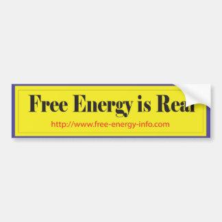 自由エネルギー バンパーステッカー