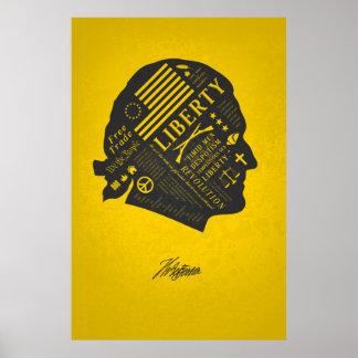 自由シリーズ-トーマス・ジェファーソンの抽象芸術の思考 ポスター