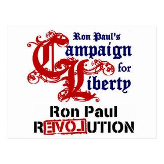 自由ロン・ポールのためのキャンペーン ポストカード