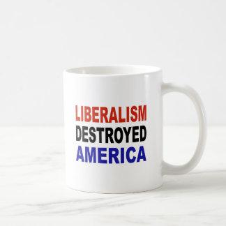 自由主義によって破壊されるアメリカ コーヒーマグカップ