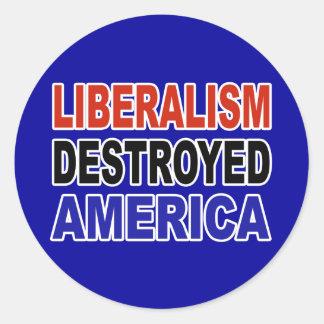 自由主義によって破壊されるアメリカ ラウンドシール