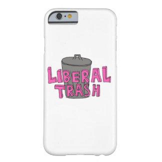 自由主義のな屑のピンクのレタリングの電話箱 BARELY THERE iPhone 6 ケース