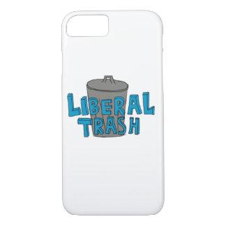 自由主義のな屑の青いレタリングの電話箱 iPhone 8/7ケース
