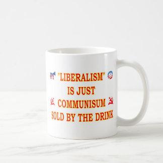 自由主義はちょうど共産主義です コーヒーマグカップ