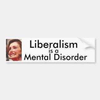 自由主義は精神障害です バンパーステッカー