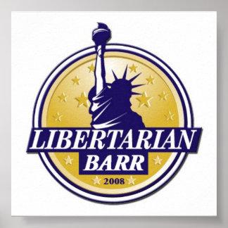 自由主義的なパーティーBARRポスターデンバーLP ポスター
