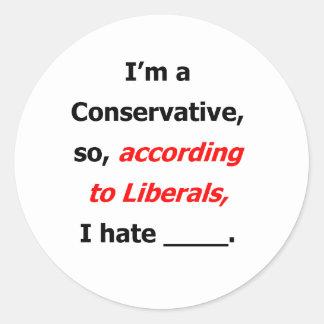 自由主義者はステッカーあります ラウンドシール