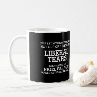 自由主義者はナイジェルFarage Brexitへの感謝を引き裂きます コーヒーマグカップ