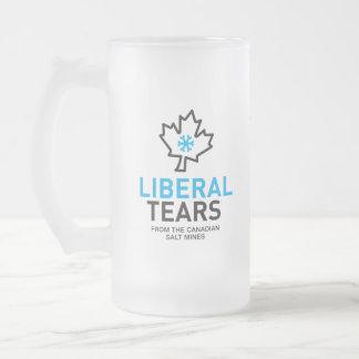 自由主義者は岩塩坑のカナダのおもしろいな連邦主義者を引き裂きます フロストグラスビールジョッキ