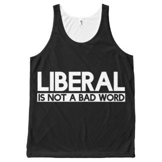 自由主義者は悪い単語ではないです オールオーバープリントタンクトップ