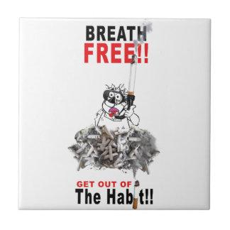自由停止喫煙を呼吸して下さい タイル
