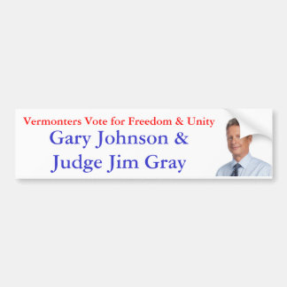 自由及び単一性のためのVermontersの投票 バンパーステッカー