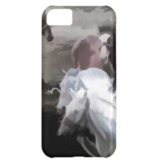 自由野生の馬の破損 iPhone5Cケース