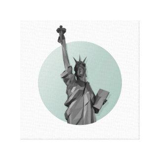 自由。 ニューヨーク キャンバスプリント