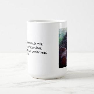 自由-引用文の馬のマグ コーヒーマグカップ