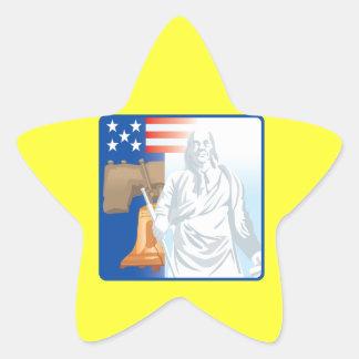 自由 星シール
