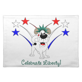 自由-花火--を祝って下さい ランチョンマット