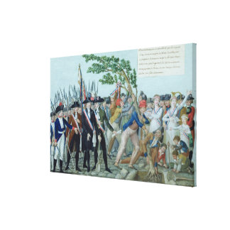 自由、c.1789の木の植わること キャンバスプリント