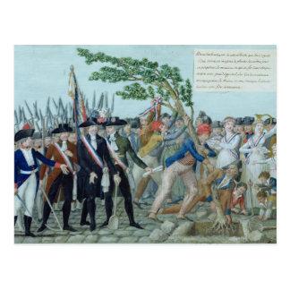 自由、c.1789の木の植わること ポストカード