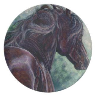 自由- Friesianの種馬のプレート プレート