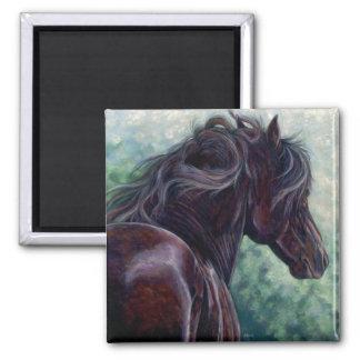 自由- Friesianの馬の磁石 マグネット