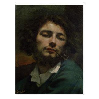 自画像または、管、c.1846を持つ人 ポストカード