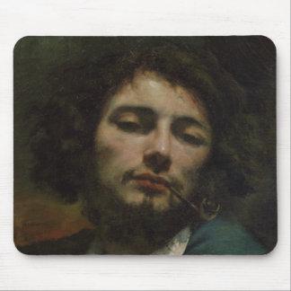自画像または、管、c.1846を持つ人 マウスパッド