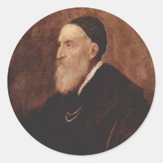 自画像1567年 丸型シール