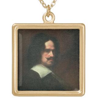 自画像1640年(キャンバスの油) ゴールドプレートネックレス