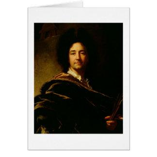自画像1716年(キャンバスの油) カード