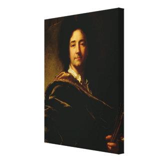 自画像1716年(キャンバスの油) キャンバスプリント