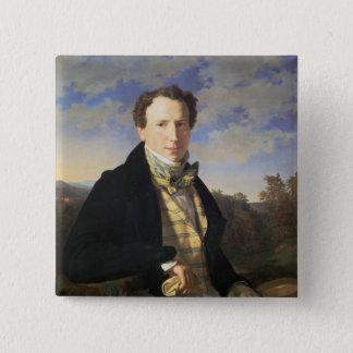 自画像1828年 5.1CM 正方形バッジ