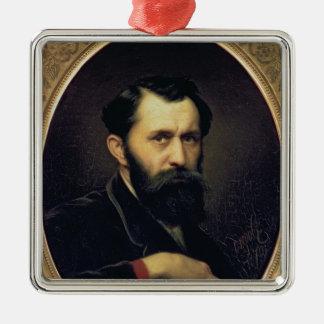自画像1870年 メタルオーナメント