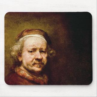 自画像63 1669年歳で マウスパッド