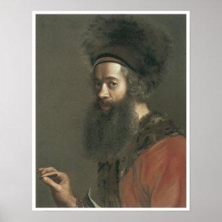 自画像、ジーンエチエンヌLiotard 1744-45年 ポスター