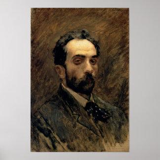 自画像、1890年代 ポスター