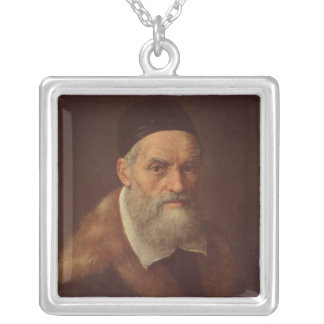 自画像、c.1562-92 シルバープレートネックレス