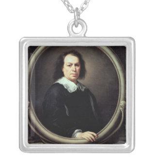 自画像、c.1670-73 シルバープレートネックレス