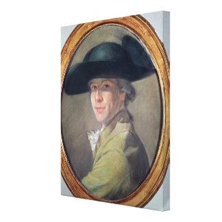 自画像、c.1780 キャンバスプリント