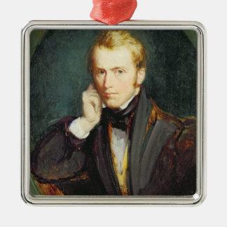 自画像、c.1827-37 (パネルの油) メタルオーナメント