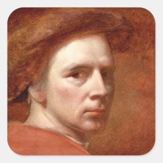 自画像、c.1830s (キャンバスの油) スクエアシール