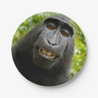 自画像- Macaca Nigra (黒いサル) ペーパープレート