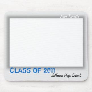自筆の卒業のマウスパッドの灰色 マウスパッド
