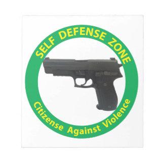自衛の地帯暴力 ノートパッド