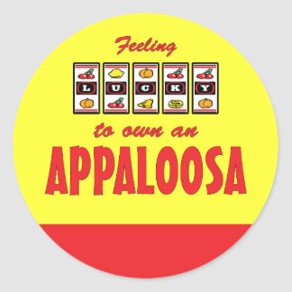 自身に幸運Appaloosaのおもしろいの馬のデザイン ラウンドシール
