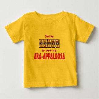 自身に幸運Ara Appaloosaのおもしろいの馬のデザイン ベビーTシャツ