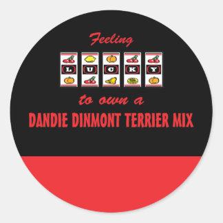 自身に幸運Dandie Dinmontテリアの組合せ ラウンドシール