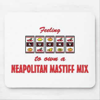 自身に幸運Neapolitanマスティフの組合せのおもしろいのデザイン マウスパッド