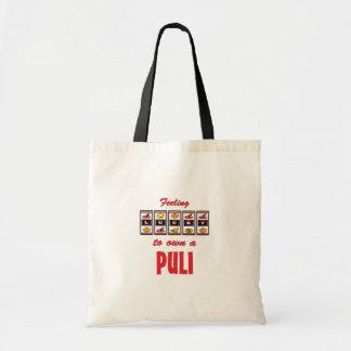 自身に幸運Puliのおもしろい犬のデザイン トートバッグ