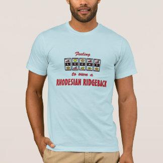 自身に幸運Rhodesian Ridgebackのおもしろい犬のデザイン Tシャツ